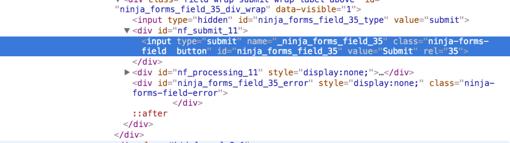 ninja forms submit code