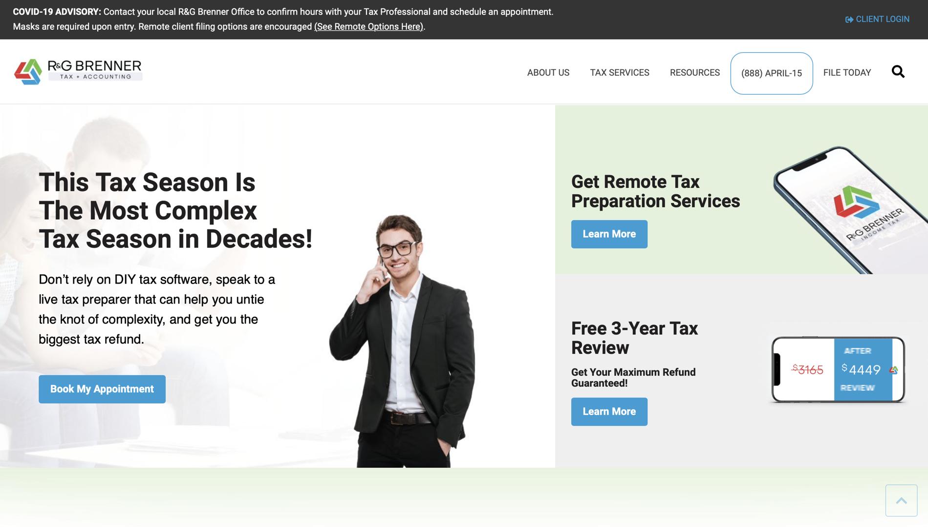NEW R&G Brenner homepage Design