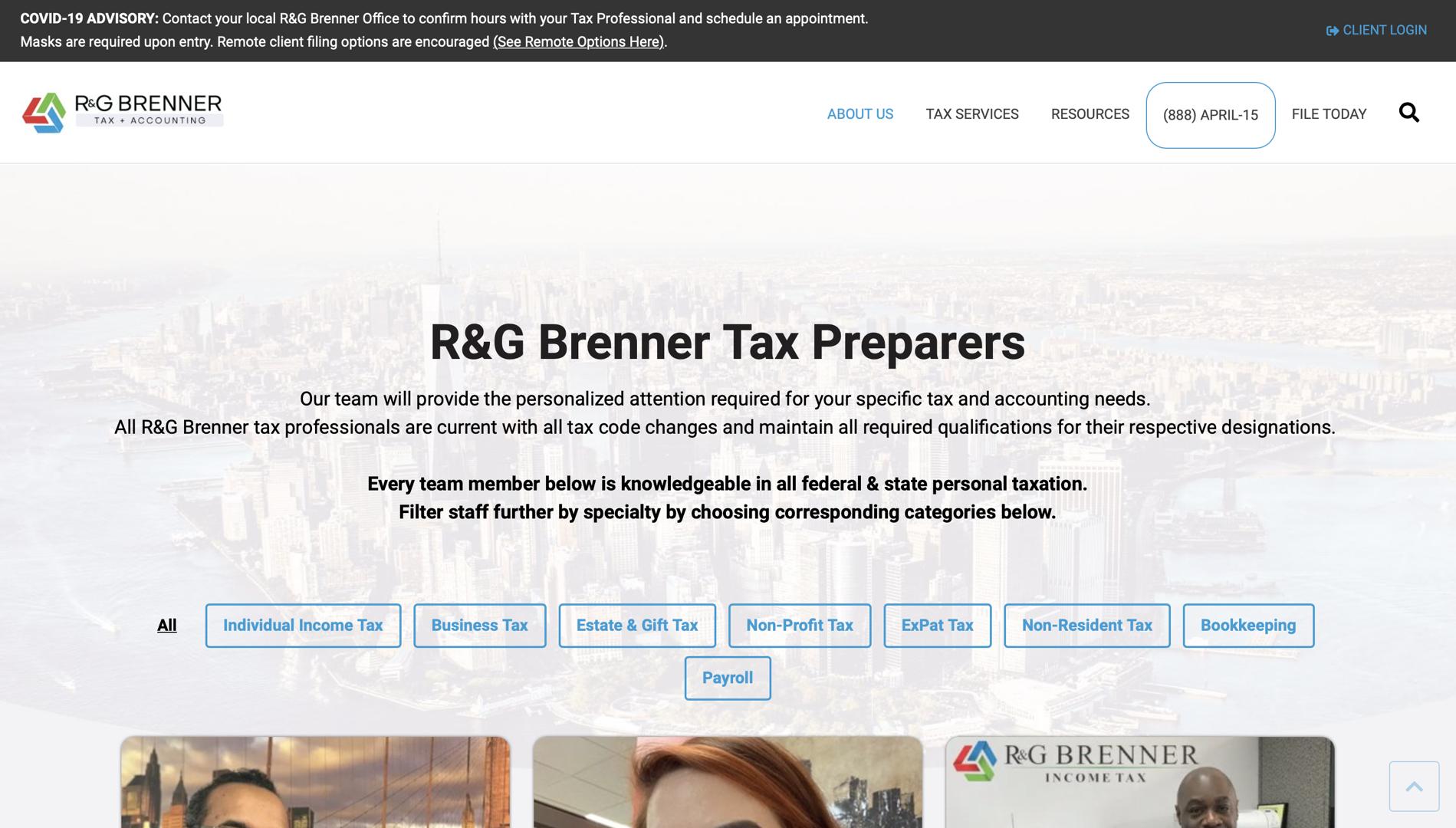 NEW tax preparers page