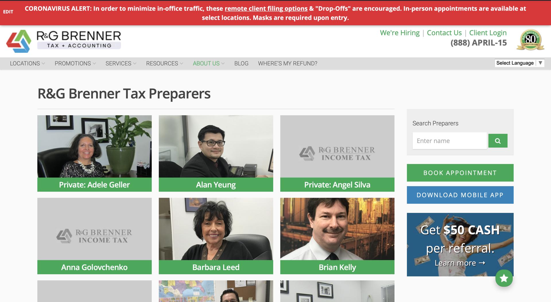 old tax preparers page
